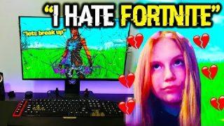 Girl Gamer DESTROYED Her Gaming Setup Over a Fortnite Relationship…